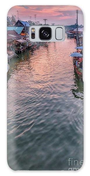 Floating Market Sunset Galaxy Case