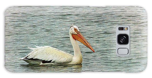 Floating Pelican Galaxy Case by Krista-