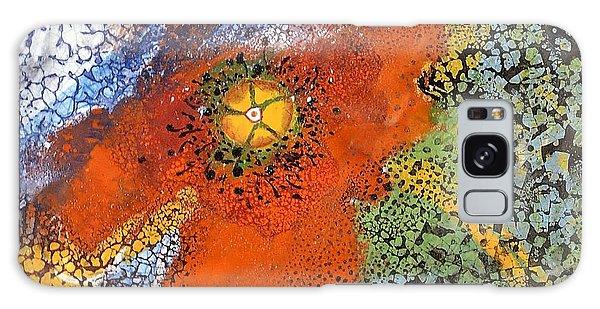 Floating Poppy Galaxy Case by Kathleen Pio