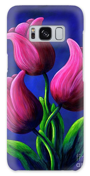 Floating Tulips Galaxy Case