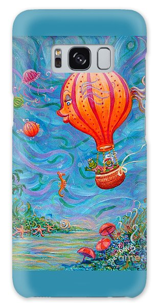 Floating Under The Sea Galaxy Case by Dee Davis