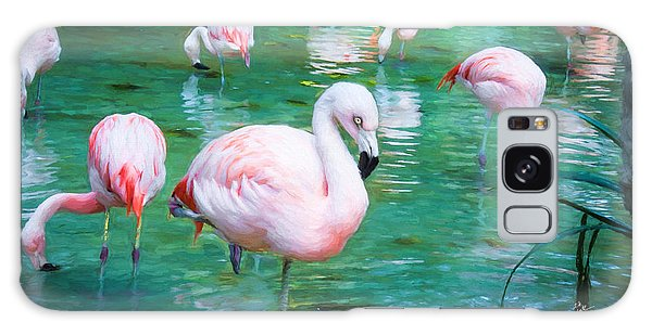 Flock Of Flamingos Galaxy Case