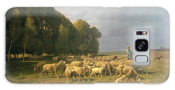 Flock Of Sheep In A Landscape Galaxy Case