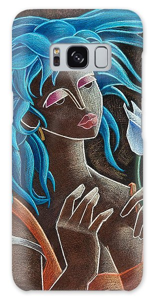 Galaxy Case featuring the painting Flor Y Viento by Oscar Ortiz