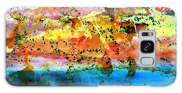 Galaxy Case featuring the painting Rustic Landscape Abstract  D2131716 by Mas Art Studio