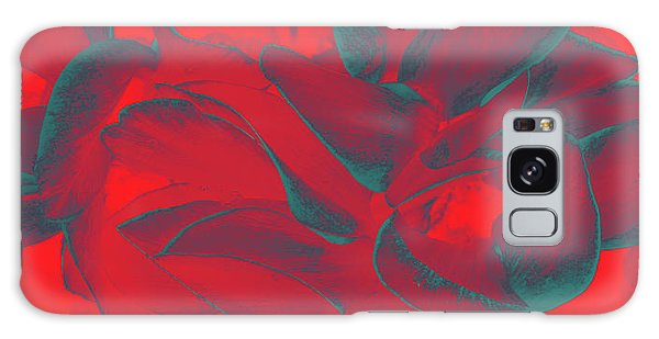 Floral Abstract In Dramatic Red Galaxy Case