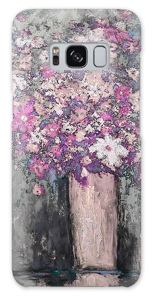 Floral Abstract - Reverse - Modern Impressionist Palette Knife Work Galaxy Case