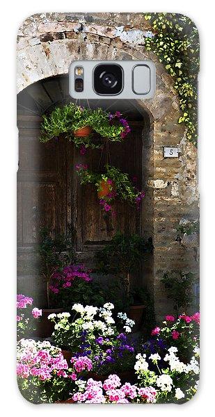 Floral Adorned Doorway Galaxy Case