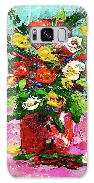 Floral Arrangement Galaxy Case by Janet Garcia