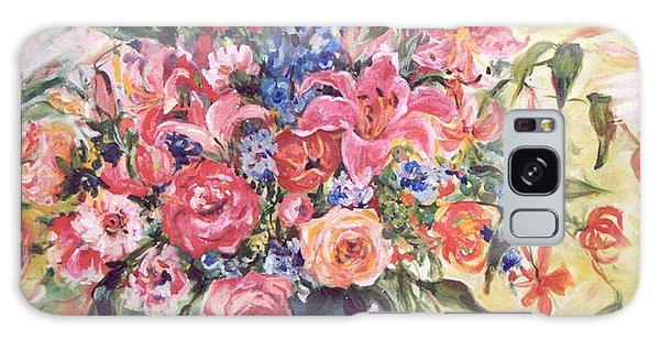 Floral Arrangement No. 2 Galaxy Case by Alexandra Maria Ethlyn Cheshire
