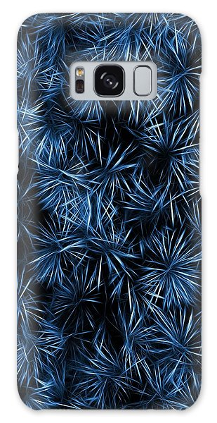 Floral Blue Abstract Galaxy Case by David Dehner