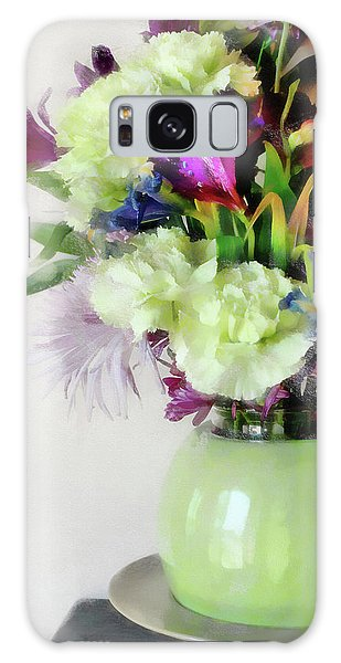 Floral Bouquet In Green Galaxy Case