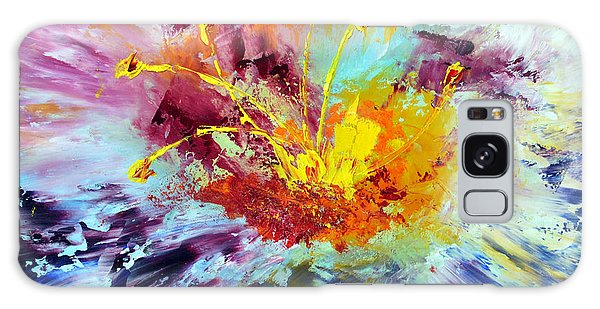 Floral Explosion Galaxy Case by Lynda Cookson