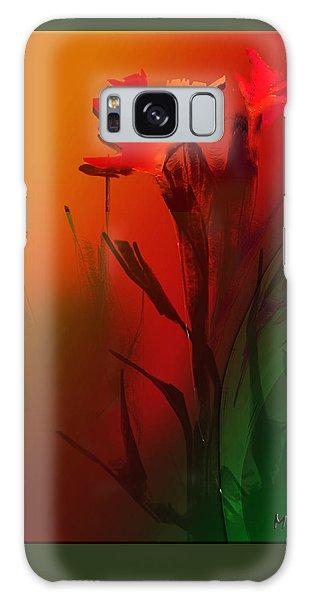 Floral Fantasy Galaxy Case by Asok Mukhopadhyay