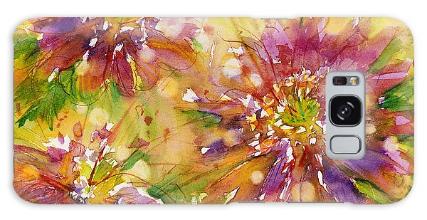 Floral Fireworks Galaxy Case by Judith Levins