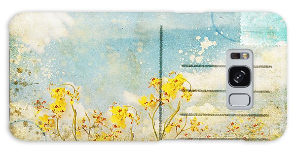 Blossoms Galaxy Case - Floral In Blue Sky Postcard by Setsiri Silapasuwanchai