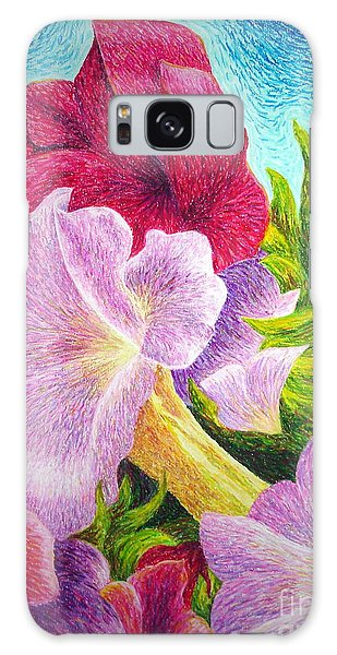Floral In Pinks Galaxy Case