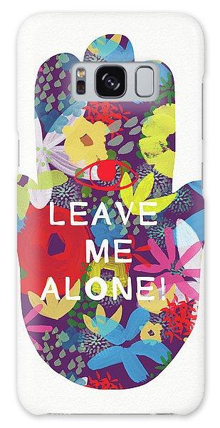 Mercury Galaxy Case - Floral Leave Me Alone Hamsa-art By Linda Woods by Linda Woods