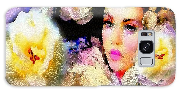 Floral Mosaic She In Thick Paint Galaxy Case