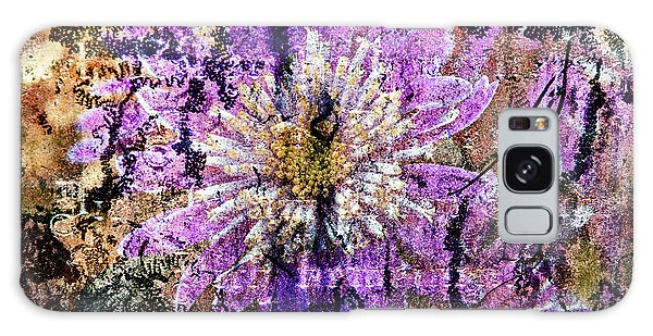Floral Poetry Of Time Galaxy Case