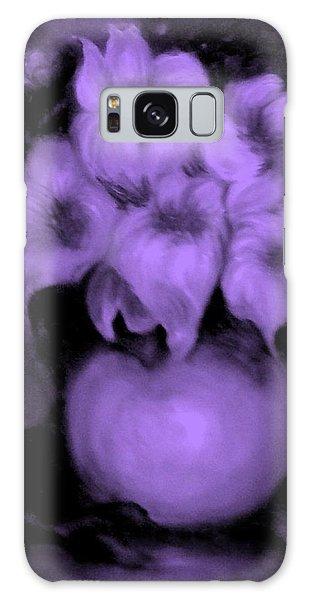 Floral Puffs In Purple Galaxy Case