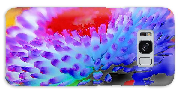 Floral Rainbow Splattered In Thick Paint Galaxy Case