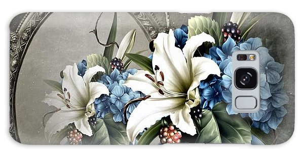 Vase Of Flowers Galaxy Case - Floral Reflection by G Berry