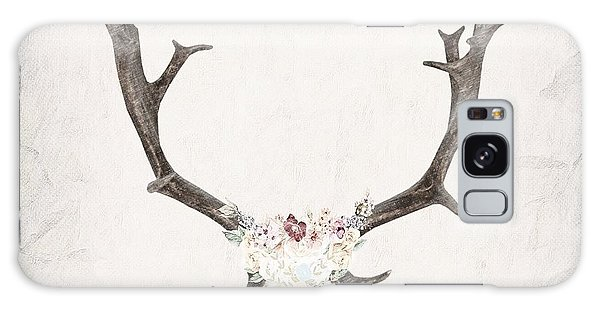 Floral Reindeer Skull  Galaxy Case by Michele Carter