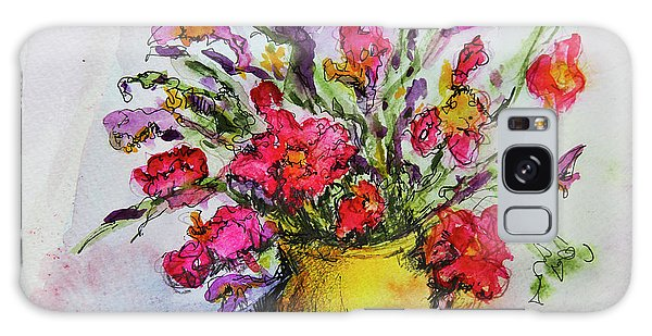 Floral Still Life 05 Galaxy Case by Linde Townsend