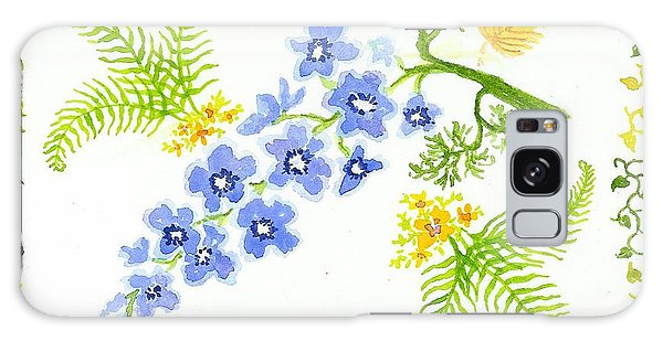 Floral Study Galaxy Case by Anne Marie Brown