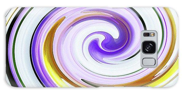 Floral Swirl 3 Galaxy Case by Margaret Saheed