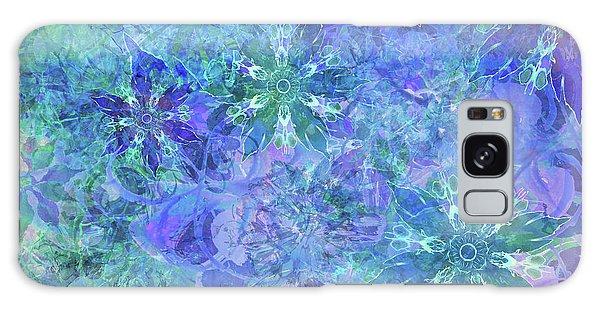 Floral Watercolor Blue Galaxy Case