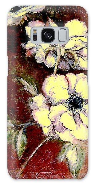 Floral Watercolor Painting Galaxy Case
