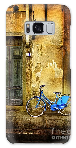 Florence Blue Bicycle Galaxy Case by Craig J Satterlee