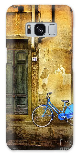 Florence Blue Bicycle Galaxy Case