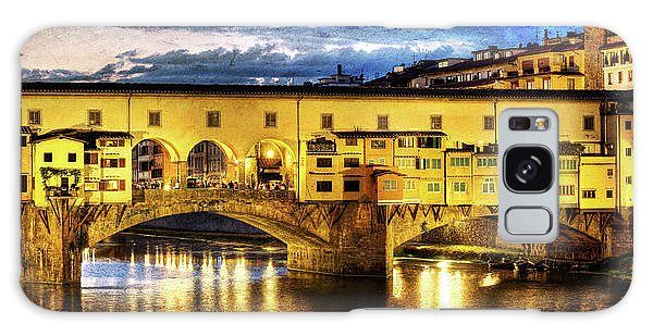 Florence - Ponte Vecchio Sunset From The Oltrarno - Vintage Version Galaxy Case