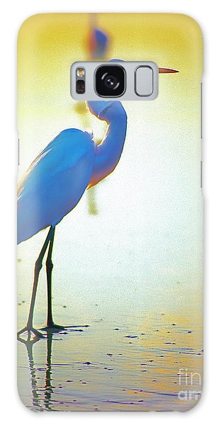 Florida Atlantic Beach Ocean Birds  Galaxy Case