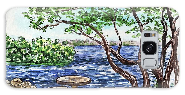 Galaxy Case featuring the painting Florida Keys John Pennekamp Park Shore by Irina Sztukowski