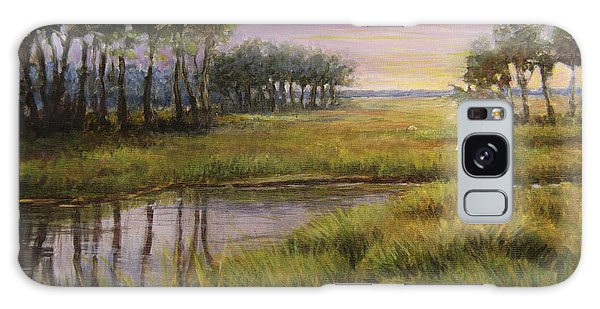 Florida Marsh Sunset Galaxy Case