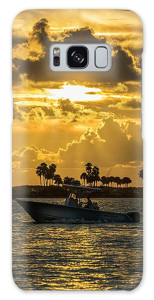 Powerboat Galaxy Case - Florida Sunset-2 by Marvin Spates