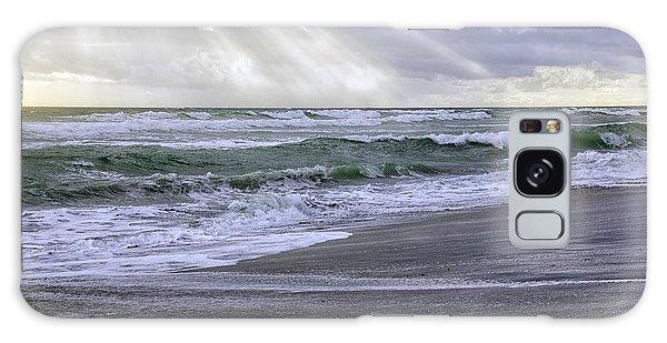 Florida Treasure Coast Beach Storm Waves Galaxy Case
