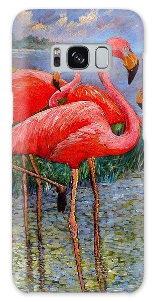 Florida's Free Flamingo's Galaxy Case