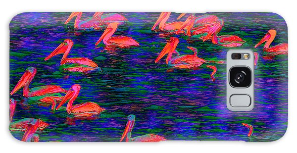 Flourescent Pelicans Galaxy Case