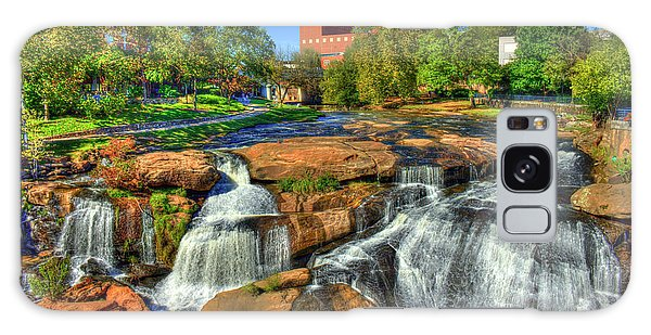 Flow On Reedy River Falls Park Art Greenville South Carolina Art Galaxy Case