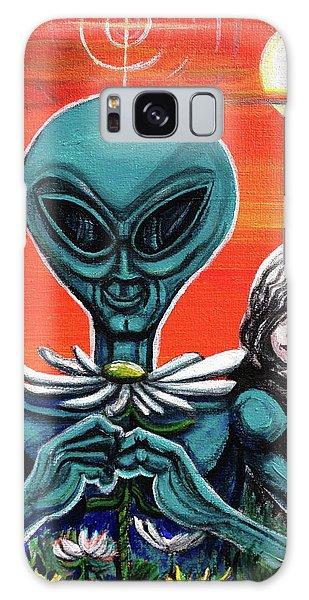 Flower. Alien. Moon Galaxy Case