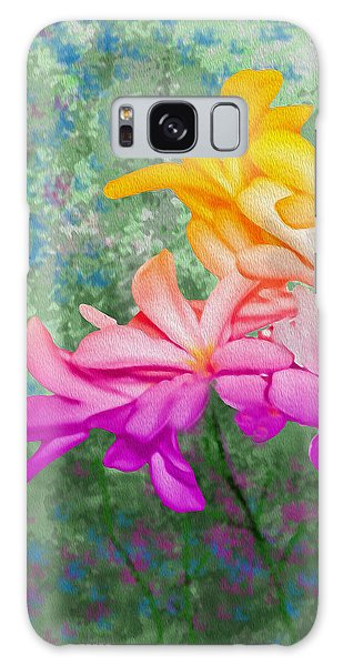 God Made Art In Flowers Galaxy Case
