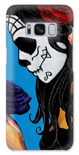 Flower And Skull Galaxy Case
