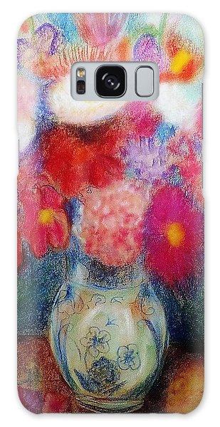 Flower Arrangement Galaxy Case by Denise Fulmer