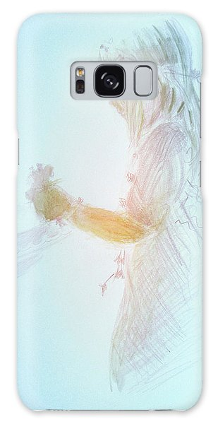 Flower Child Galaxy Case by Gertrude Palmer