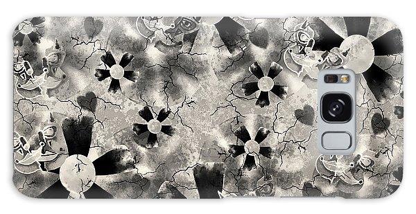 Flower Clown Pattern In Black Galaxy Case